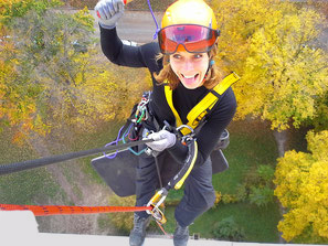 rope access plus abseil groepsuitje